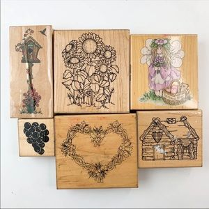 Other - Wood Stamps Lot Art & Crafts Collection